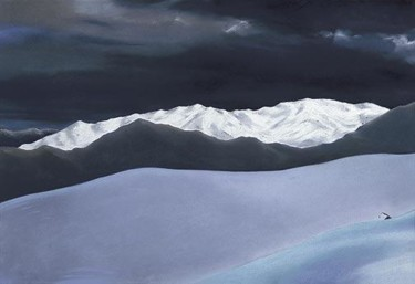 """Drawing titled """"Light over Distance…"""" by Robin Mols, Original Art,"""