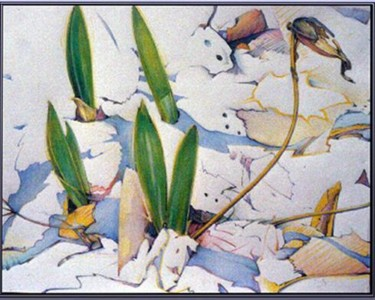 """Drawing titled """"Lady Slippers -The…"""" by Robin Mols, Original Art,"""