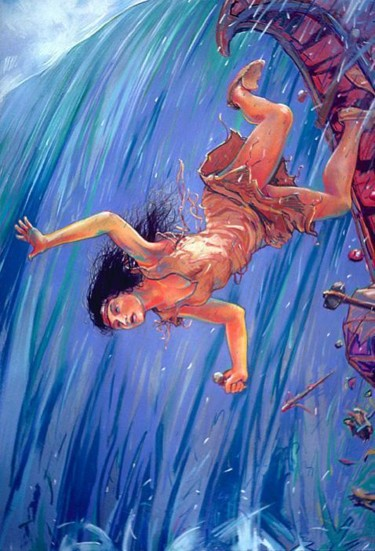 """Painting titled """"MAID OF THE MIST"""" by Robin Mols, Original Art,"""