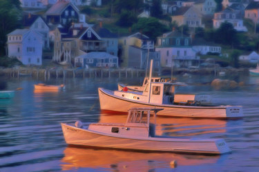 """Photography titled """"Lobster Boats. Ston…"""" by George Robinson, Original Art, Digital Photography"""