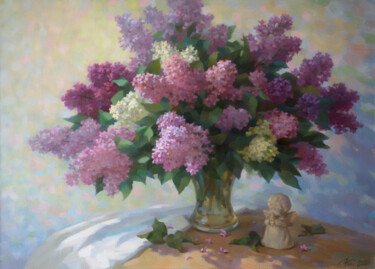 """Painting titled """"Spring 2020"""" by Yuriy Sidorenko, Original Art, Oil Mounted on Stretcher frame"""