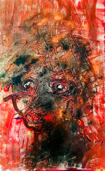 """Painting titled """"the red queen naked"""" by Rok Blenkuš, Original Art, Acrylic"""