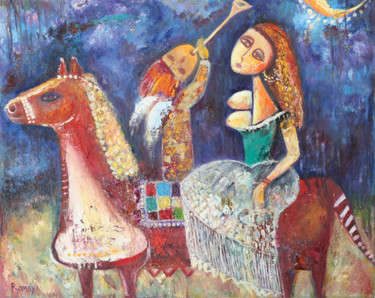 """Painting titled """"melody in the way"""" by Romaya Puchman, Original Art, Oil"""