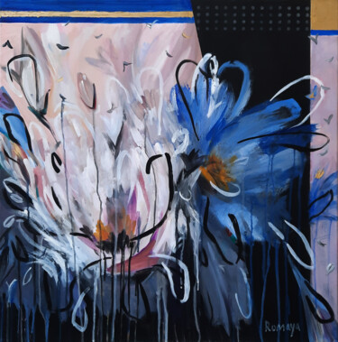 """Painting titled """"Life of flowers"""" by Romaya Puchman, Original Art, Acrylic"""