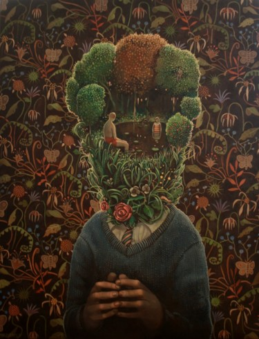 Painting, oil, surrealism, artwork by Rory Mitchell