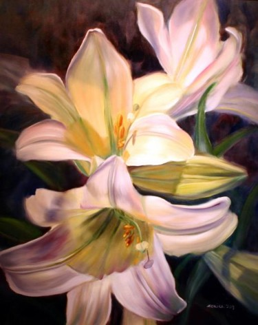 """Painting titled """"Easter Glory"""" by Rose Lady, Original Art, Oil"""