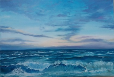 Seascape Painting, oil, figurative, artwork by Roselyne Rollant (rose)