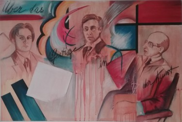 Painting, acrylic, artwork by Roselyne Rollant (rose)