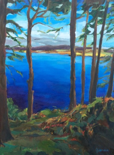 """Painting titled """"Ord Hill"""" by Rosemary Bonnin, Original Art, Oil"""