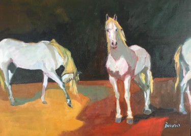 """Painting titled """"Watching and waiting"""" by Rosemary Bonnin, Original Art, Oil"""