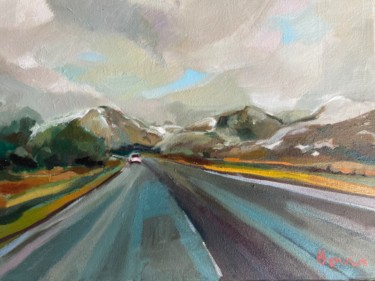 """Painting titled """"Aviemore A9"""" by Rosemary Bonnin, Original Art, Oil"""