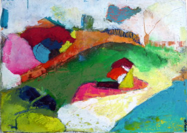 Painting, pastel, abstract, artwork by Rosemay
