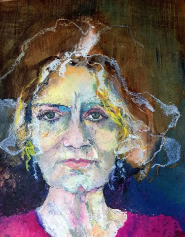 Painting, pastel, figurative, artwork by Rosemay