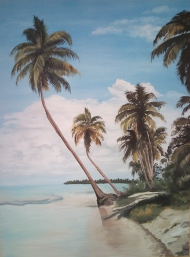 """Painting titled """"PAESAGGIO TROPICALE"""" by Rosa Nardella, Original Art, Acrylic"""