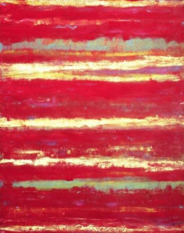 """Painting titled """"Fields of Red"""" by Roberto Rotondo, Original Art, Oil Mounted on Stretcher frame"""
