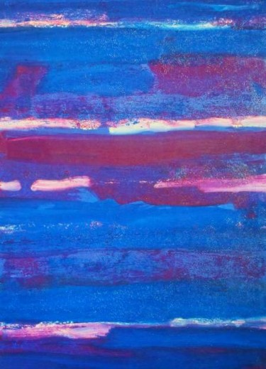 """Painting titled """"Indigo In Places"""" by Roberto Rotondo, Original Art, Oil"""