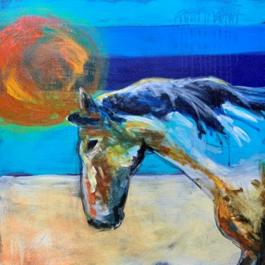 Animal Painting, acrylic, expressionism, artwork by Roxanne Fawcett
