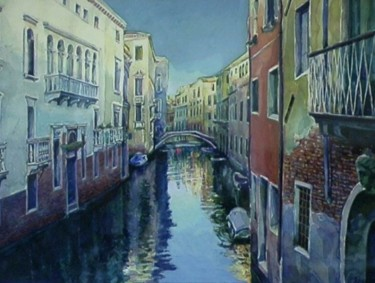 """Painting titled """"Venice, canal  1"""" by William Rozenson, Original Art,"""