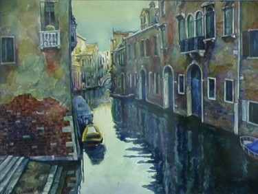 """Painting titled """"Venice, canal 3"""" by William Rozenson, Original Art,"""