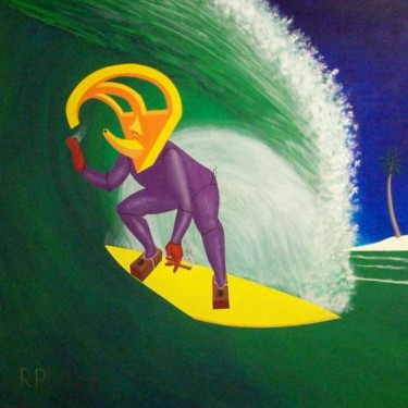 """Painting titled """"Ancient Relic Surfi…"""" by Rudy Pavlina, Original Art, Oil"""