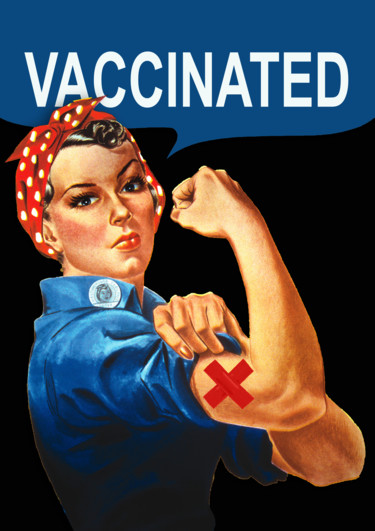 """Painting titled """"Vaccine Vaccinated…"""" by Tony Rubino, Original Art, Acrylic Mounted on Stretcher frame"""