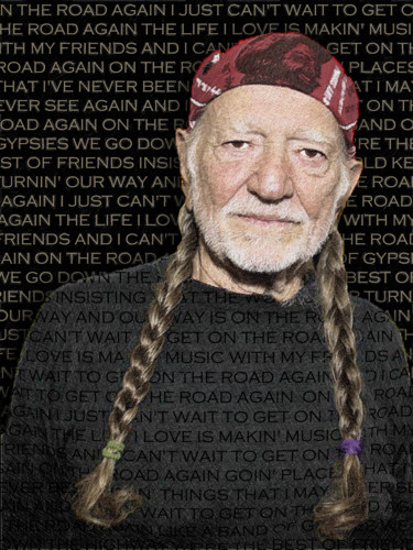 """Painting titled """"Willie Nelson And O…"""" by Tony Rubino, Original Art, Acrylic Mounted on Stretcher frame"""