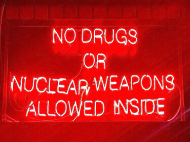 """Painting titled """"No Drugs Or Nuclear…"""" by Tony Rubino, Original Art, Acrylic Mounted on Stretcher frame"""