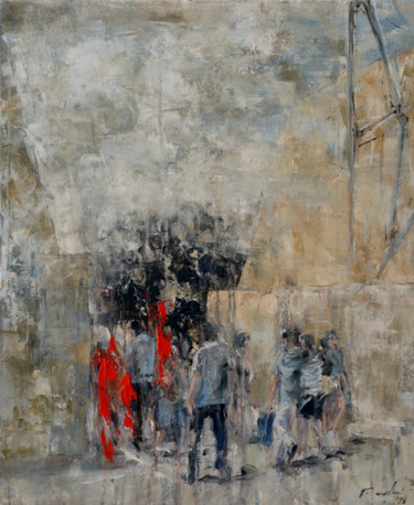 Everyday Life Painting, acrylic, figurative, artwork by Rupert Cefai