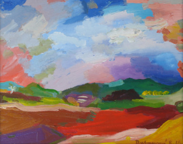 """Painting titled """"Melody of hills / M…"""" by Ruth Dubayová, Original Art, Oil"""