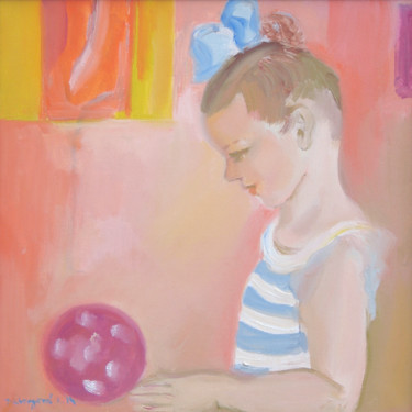 """Painting titled """"Happy moments / Mom…"""" by Ruth Dubayová, Original Art, Oil"""