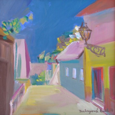 """Painting titled """"Old town street / R…"""" by Ruth Dubayová, Original Art, Oil"""
