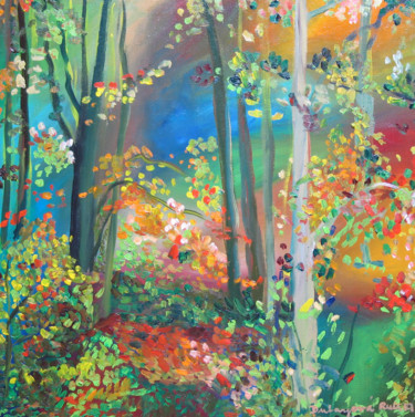 """Painting titled """"Forest 23"""" by Ruth Dubayová, Original Art, Oil"""