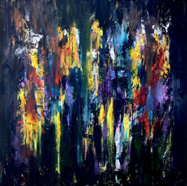 """Painting titled """"Nightlife"""" by Roxanne Smit, Original Art, Acrylic"""