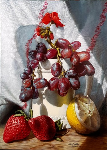 """Painting titled """"Fruits in the sun"""" by Sabin&Catalina Chintoan, Original Art, Acrylic"""