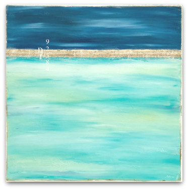 Beach Painting, acrylic, abstract, artwork by Sabina D'Antonio