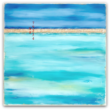 """Painting titled """"Breezy Island Life"""" by Sabina D'Antonio, Original Art, Acrylic Mounted on Stretcher frame"""