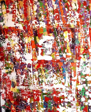 Graffiti Painting, acrylic, abstract, artwork by Sabine Deluze