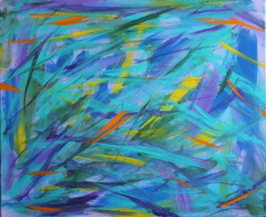 """Painting titled """"Printemps"""" by Sabine Gilles, Original Art, Acrylic"""