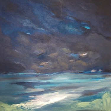 """Painting titled """"Full Moon"""" by Sabine Juery, Original Art, Acrylic Mounted on Stretcher frame"""