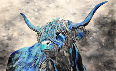 Animal Painting, acrylic, expressionism, artwork by Sabrina Seck