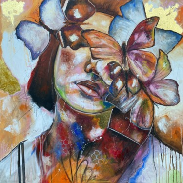 Women Painting, acrylic, expressionism, artwork by Sabrina Seck