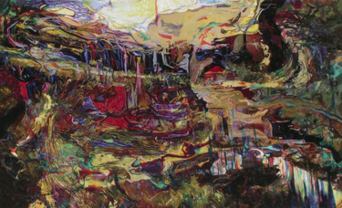Abstract Painting, oil, abstract, artwork by Safir & Rifas