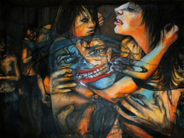 Painting, oil, expressionism, artwork by Safir & Rifas