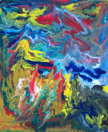 """Painting titled """"Abstract No. 410"""" by Shahriar Aghakhani, Original Art, Acrylic"""