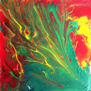 """Painting titled """"Abstract No. 424"""" by Shahriar Aghakhani, Original Art, Acrylic"""