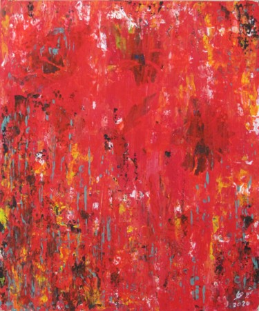 """Painting titled """"Abstract No. 167"""" by Shahriar Aghakhani, Original Art, Acrylic"""