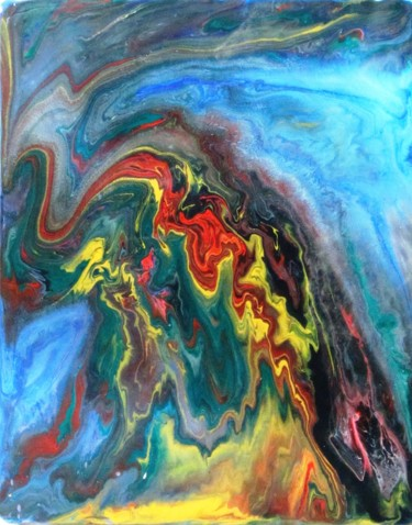"""Painting titled """"Abstract No. 121"""" by Shahriar Aghakhani, Original Art, Acrylic"""