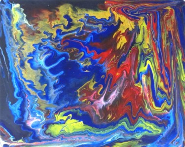"""Painting titled """"Abstract No. 125"""" by Shahriar Aghakhani, Original Art, Acrylic"""