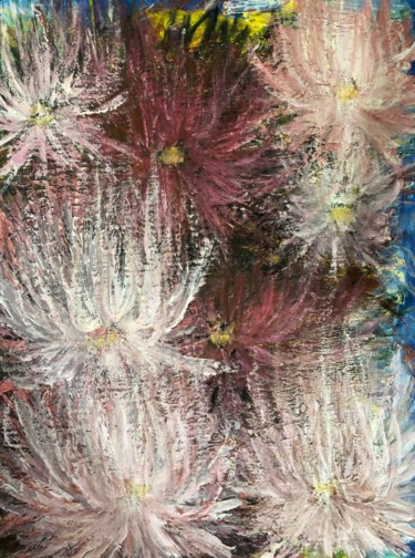 """Painting titled """"Flowers"""" by Saho, Original Art, Acrylic"""