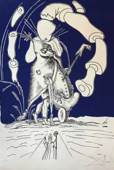 29.9x21.3 in ©1973 by Salvador Dali